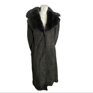 Danier Black Shearling Winter Coat Size Small